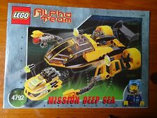 Istruzioni Lego (solo) N. 4792 MISSION DEEP SEA