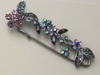 Vintage Style Safety  Pin  flower leaf