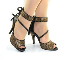 Adult Latin dance shoes women's high-heeled genuine leather soft outsole shoes