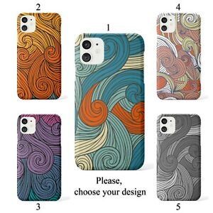 Vivid swirls case for Galaxy Note 10 9 8 and Google Pixel 4 3 3a XL SN
