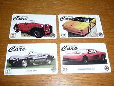 *** 4x Classic Cars ferrari, jaguar, lamborghini, MG tel.kaarten  ***