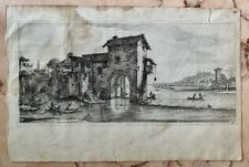 1665 Antique Print Landscape  Italy Architecture Israel Silvestre