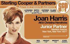 Joan Harris / Christina Hendricks / Junior Partner of Mad Men Drivers License