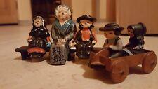 vintage amish iron figurines