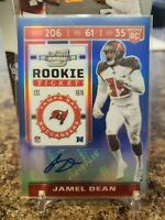 🔥JAMEL DEAN ROOKIE TICKET AUTO /75 TAMPA BAY BUCCANEERS AUBURN TIGERS🔥