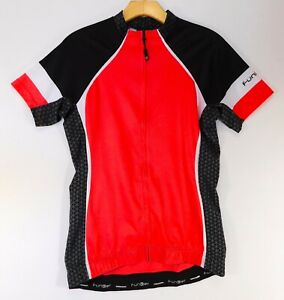 "FUNKIER Bike CYCLING JERSEY Short Sleeve Red Black White Full Zip WOMEN""S LARGE"