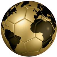 decal sticker car bumper flag soccer ball foot football gold