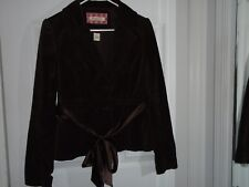 Abercrombie & Fitch Brown Velour Jacket Junior's Size Large