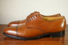 RARE | JOHN LOBB DERAN 8 E US 9 D CAPTOE DERBY 8695 BROWN TAN COGNAC LEATHER