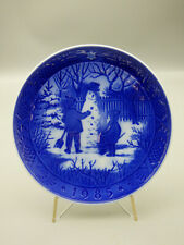 Royal Copenhagen Snowman 1985 Limited Edition Christmas Collector Plate