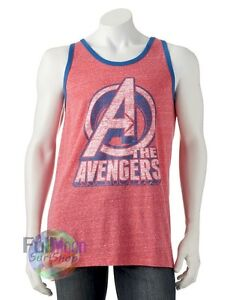 New The Avengers Tank Top  Heather Red Shirt