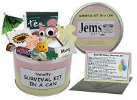 MUM BIRTHDAY SURVIVAL KIT IN A CAN. Mother-Mom-Mam-Mummy Novelty Gift & Fun Card