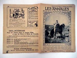 Les Annales n°2023- 1922 - Actualités - Romans - Théâtre - Illustrées