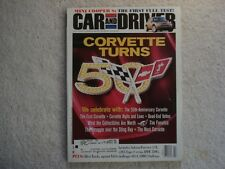 Car and Driver 2002 July Corvette 50th Anniversary Mini Cooper Subaru BMW BMW M3