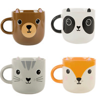 Ceramic Animal Themed Mugs Panda Bear Fox Cat Dog Mug Gift for Friend