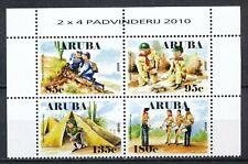 ARUBA 2010 - PADVINDERIJ / SCOUTING - POSTFRIS BLOK VAN 4                  Hk151