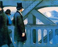 Gustave Caillebotte The Europa Bridge Fine Art Print on Canvas Home Decor Small