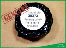 2 Rolls Dymo® Compatible 30373 Pricetag Rat Tail Style Thermal Film Labels