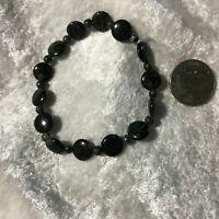natural kambaba jasper gemstone dainty beaded stretch bracelet