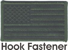 US United States Woodland Green Black Flag Patch VELCRO® BRAND Fastener Compatib