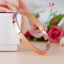 Titanium Steel Women Men Love Cuff Bangle Bracelet Fashion Jewelry Gift