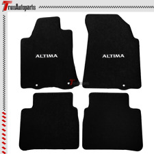 Universal Fits 13-16 Nissan Altima Floor Mats Black Nylon Carpets 4Pcs Full Set