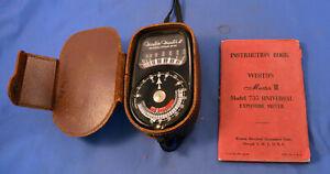WESTON Master II Dual-Range Selenium Exposure Meter w/ Leather Case Instructios