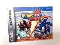 Sonic Battle Nintendo Gameboy Advance GBA Instruction Manual Booklet Book ONLY!