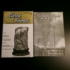 Lot of 2 Magazines Earth Science Digest 1947 Rockhounds' National Magazine 1964