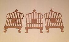 """Bird Cage Die Cut Set of 6 3"""" H #3544"""