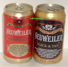 NEUWEILER BLACK&TAN(PORTER)+RED LAGER BEER CAN SET ALLENTOWN,PA.<HUBER WISCONSIN