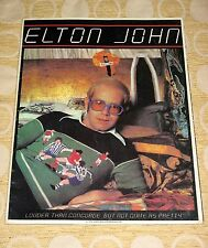 Vintage 1976 ELTON JOHN Madison Square Garden NYC CONCERT PROGRAM