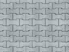 Vollmer kit 47372 NEW N FANCY CONCRETE PAVING  EMBOSSED CARD SHEET 250X125MM