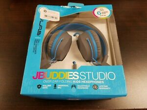 Jlab JBuddies Studio Over Ear Folding Kids Headphones - Graphite/Blue