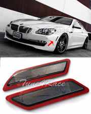 For 12-15 BMW F12 F13 6-Series Bumper CRYSTAL SMOKE Reflector Side Marker Lights