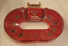 NEW Disney Cars Race Case & Track Storage Carry Case w/ Handle- Holds 16 Cars