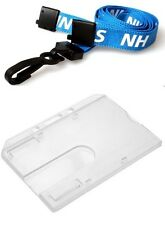 Enclosed Rigid ID Card Holder & NHS Single Breakaway Plastic J Lanyard