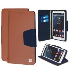 For Motorola Droid Turbo XT1254 Wallet Flip Cover Card Case (Kickstand) Brown