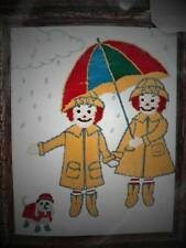 Raggedy Ann & Andy Crewel Kit Rainy Days RA1708 NIP Sealed Vintage