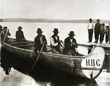 Giant Vintage Birch Bark Canoe Hudson Bay Company HBC Voyager First Nation  LOOK