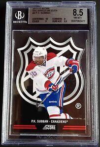2011-12 Score NHL Shield Die Cuts P.K. SUBBAN Graded BGS 8.5 Canadiens Pop 1/1