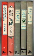 Lot of 5 Lee McGiffin Books 1st Ed. Pony Soldier, Rebel Rider Etc Antique Books$