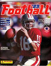 1989 PANINI FOOTBALL STICKER ALBUM  W/JOE MONTANA ON COVER -50% COMPLETE