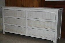 White, Henry Link wicker  6 drawer bureau.
