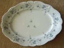 "Vintage Johann Haviland China Large Platter 14 3/4"" Blue Garland Wedding"