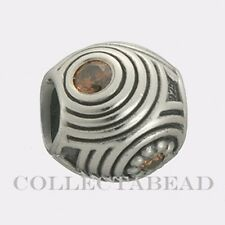 Authentic Pandora Silver Brown Hypnotic Bead 790432BCZ  *RETIRED*