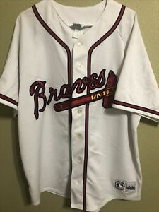 ANDREW JONES #25 ATLANTA BRAVES SEWN MAJESTIC MLB JERSEY ADULT XXL