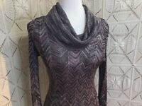 INC International Concepts Tunic Knit 3/4 Sleeve Cowl Neck Multicolored Medium