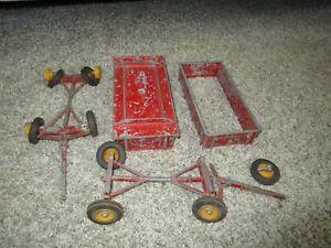 Agco Massey Harris Ferguson Farm Toy Reuhl Custom Parts Restore 2 Barge Wagons