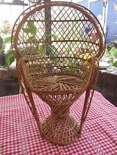 Vintage Cane Dolls Peacock Chair  47 cms